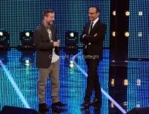 19/01/2013 Roma trasmissione rai I MIGLIORI ANNI, nella foto: Marco Masini con Carlo Conti