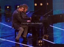 19/01/2013 Roma trasmissione rai I MIGLIORI ANNI, nella foto: Marco Masini con Keith Emerson