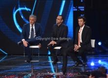 29/04/2016 Roma prima puntata della trasmissione I MIGLIORI ANNI, nella foto Carlo Conti con Giletti e l'imitatore Pantani