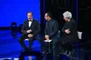 28/04/2017 Roma Prima puntata de I MIGLIORI ANNI, rai uno, nella foto: Carlo Conti con Lopez e Solenghi