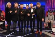 04/12/2016 Roma i Pooh ospiti dell'Arena di Giletti con il regista Giovanni Caccamo