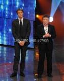 Roma 7/01/2011 trasmissione i raccomandati raiuno prima puntata nella foto Il principe Emanuele Filiberto, Pupo