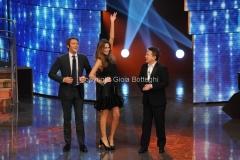 Roma 7/01/2011 trasmissione i raccomandati raiuno prima puntata nella foto Il principe Emanuele Filiberto, Pupo e Debora Salvalaggio