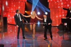 Roma 7/01/2011 trasmissione i raccomandati raiuno prima puntata nella foto Il principe Emanuele Filiberto, Pupo e Valeria Marini
