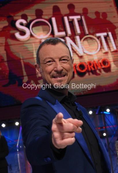 Foto/IPP/Gioia Botteghi Roma 27/04/2021 Trasmissione I soliti ignoti , nella foto Amadeus Italy Photo Press - World Copyright