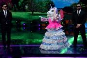 Foto/IPP/Gioia BotteghiRoma 10/01/2019 nuovo programma di Rai uno Il cantante mascherato, nella foto , l'unicornoItaly Photo Press - World Copyright