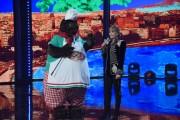 Foto/IPP/Gioia BotteghiRoma 10/01/2019 nuovo programma di Rai uno Il cantante mascherato, nella foto , il mastino con Milly CalucciItaly Photo Press - World Copyright