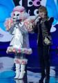 Foto/IPP/Gioia BotteghiRoma 10/01/2019 nuovo programma di Rai uno Il cantante mascherato, nella foto , il barboncino con Milly CalucciItaly Photo Press - World Copyright