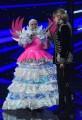Foto/IPP/Gioia BotteghiRoma 10/01/2019 nuovo programma di Rai uno Il cantante mascherato, nella foto , Milly Calucci con l'unicorno Orietta BertiItaly Photo Press - World Copyright