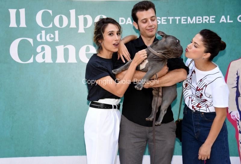 Foto/IPP/Gioia Botteghi Roma 12/09/2019 Photocall del film Il colpo del cane, nella foto    Dafhne Scoccia, Silvia D'Amico, ed il regista Fulvio Risuleo, con il cane Ugo Italy Photo Press - World Copyright