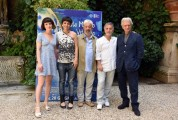 Foto/IPP/Gioia Botteghi Roma 14/06/2019 Presentazione del film Il flauto magico di piazza Vittorio, nella foto: Violetta Zironi, Mario Tronco e Gianfranco Cabiddu, Petra Magoni, Fabrizio Bentivoglio, Italy Photo Press - World Copyright