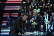 Roma 20/01/2010 Prima puntata de IL PIU GRANDE, nella foto Francesco Facchinetti e Vittorio Sgarbi