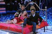 Roma 20/01/2010 Prima puntata de IL PIU GRANDE, nella foto Francesco Facchinetti, Martina Stella con Rosario Fiorello