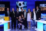 16/09/2013 Roma il processo del lunedi, nelle foto: Enrico Varriale ed il cast