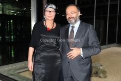 07/11/2013 Roma presentazione del programma rai IL TEMPO E LA STORIA, nella foto : Massimo Bernardini ed Elena Calandrelli