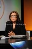 25/09/2011 Roma, trasmissione IN MEZZ'ORA nella foto Lucia Annunziata con il nuovo logo
