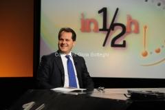 25/09/2011 Roma, trasmissione IN MEZZ'ORA nella foto il Ministro Saverio Romano