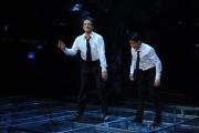 10/03/09 Roma prima puntata di INCREDIBILE raiuno, nella foto : Massimo Ranieri e Federico