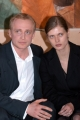 Conferenza stampa del film Karl ( un uomo diventato Papa)nelle foto:Piotr Adamczyk il protagonista ,  Malgorzata Bela,