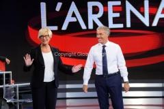 20/09/2015 Roma puntata della trasmissione di rai uno L'arena di Massimo Giletti, nella foto Ministro Pinotti