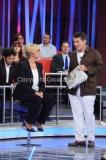 20/09/2015 Roma puntata della trasmissione di rai uno L'arena di Massimo Giletti, nella foto Ministro Pinotti e Duilio Giammaria