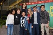Foto/IPP/Gioia Botteghi Roma19/12/2018 Presentazione del film La befana vien di notte, nella foto:  Paola Cortellesi e i suoi alunni Italy Photo Press - World Copyright