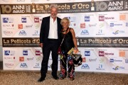 Foto/IPP/Gioia Botteghi Roma 28/07/2020 Decimo anno del premio La pellicola D'oro, nella foto: Cinzia Th Torrino con il marito Italy Photo Press - World Copyright