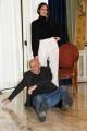 """Foto/IPP/Gioia Botteghi Roma03/12/2018 Presentazione del film """"La prima pietra"""" nella foto: Rolando Ravello il regista con Kasia Smutniak Italy Photo Press - World Copyright"""