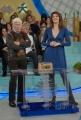 13/1/09 Roma Trasmissione di raiuno LA PROVA DEL CUOCO nella foto la nuova conduttrice che ha preso il posto di Antonella Clerici: Elisa Isoardi con Beppe Bigazzi