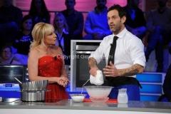 06/01/2013 Roma La prova del cuoco lotteria serata finale, nella foto: Antonella Clerici Ascanio Pacelli