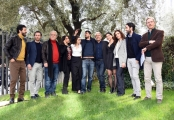 Foto/IPP/Gioia Botteghi Roma21/02/2019 Presentazione della fiction di rai uno La stagione della caccia, nella foto il regista Roan Johnson con tutto il cast Italy Photo Press - World Copyright