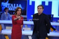 15/12/2014 Roma La vita in diretta con Marco Liorni e Cristina Parodi