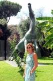 31/07/2014 Roma Spot televisivo di rai uno con Cristina Parodi che condurrà la vita in diretta