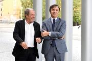 Foto/IPP/Gioia Botteghi 03/11/2016 Roma Giovanni Minoli conduce per La7 la nuova trasmissione Faccia a faccia da domenica 6 novembre con Marco Ghigliani amministratore delegato La7