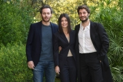 Foto/IPP/Gioia Botteghi Roma 23/10/2018 presentazione della fiction di rai uno L'allieva, nella foto: Alessandra Mastronardi con  Lino Guanciale e Giorgio Marchesi  Italy Photo Press - World Copyright