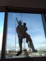 Foto/Gioia Botteghi 04/01/2018 Roma, il nuovo palazzo della BNL di via Tiburtina inaugurato a maggio oggi ha il primo lavaggio dei vetri