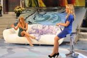 Roma 12/12/09 Prima puntata della trasmissione condotta da Lorella Landi su raiuno il sabato,Lecciso ospite