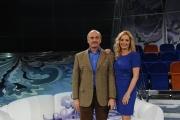 Roma 12/12/09 Prima puntata della trasmissione condotta da Lorella Landi su raiuno il sabato,nella foto anche Daniel Toaf vicedirettore di raiuno