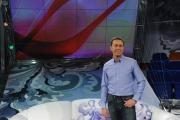 Roma 12/12/09 Prima puntata della terasmissione condotta da Lorella Landi su raiuno il sabato,nella foto Danilo Fumiento co conduttore