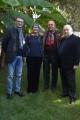 13/12/2016 Roma presentazione del programma Le chiamavano jazz band , rai storia. Nella foto: Gege Telesforo, Pupi Avati, Renzo Arbore, Silvia Calandrelli,