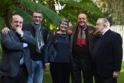 13/12/2016 Roma presentazione del programma Le chiamavano jazz band , rai storia. Nella foto: Gege Telesforo, Pupi Avati, Renzo Arbore, Silvia Calandrelli, Fabrizio Corallo