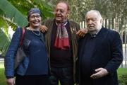 13/12/2016 Roma presentazione del programma Le chiamavano jazz band , rai storia. Nella foto: Pupi Avati, Renzo Arbore, Silvia Calandrelli