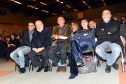 13/12/2016 Roma presentazione del programma Le chiamavano jazz band , rai storia. Nella foto: Gege Telesforo, Pupi Avati, Renzo Arbore, Silvia Calandrelli, Nino Frassica