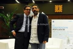 15/06/2015 Roma prima serata de LE CONVERSAZIONI rai, nella foto: Antonio Franchini con il conduttore Davide Azzolini