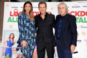 Foto/IPP/Gioia Botteghi Roma 12/10/2020 Photocall del film Lockdown all'italiana, nella foto: Romina Pierdomenico con Ezio Greggio , Enrico Vanzina Italy Photo Press - World Copyright