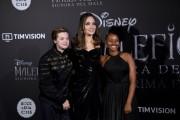 Foto/IPP/Gioia Botteghi Roma 07/10/2019 red carpet del film Maleficent, nella foto :    Angelina Jolie con due dei suoi figli Italy Photo Press - World Copyright