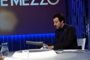Foto/IPP/Gioia Botteghi 12/06/2018 Roma, Matteo Salvini ospite di Lilli Gruber a Otto e mezzo La7  Italy Photo Press - World Copyright