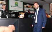 Foto/IPP/Gioia Botteghi Roma 10/09/2019 Matteo Salvini al bar della Rai con Bruno Vespa Italy Photo Press - World Copyright