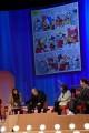 Foto/IPP/Gioia Botteghi Roma 13/04/2021 Trasmissione Maurizio Costanzo show quarta puntata 2021, nella foto il fumetto con Costanzo Italy Photo Press - World Copyright