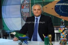 27/05/2014 Roma spot per il programma MAXINHO DO BRASIL, nella foto Vincenzo D'Amico
